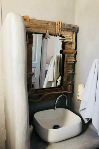 double room sarakiniko view studios bathroom